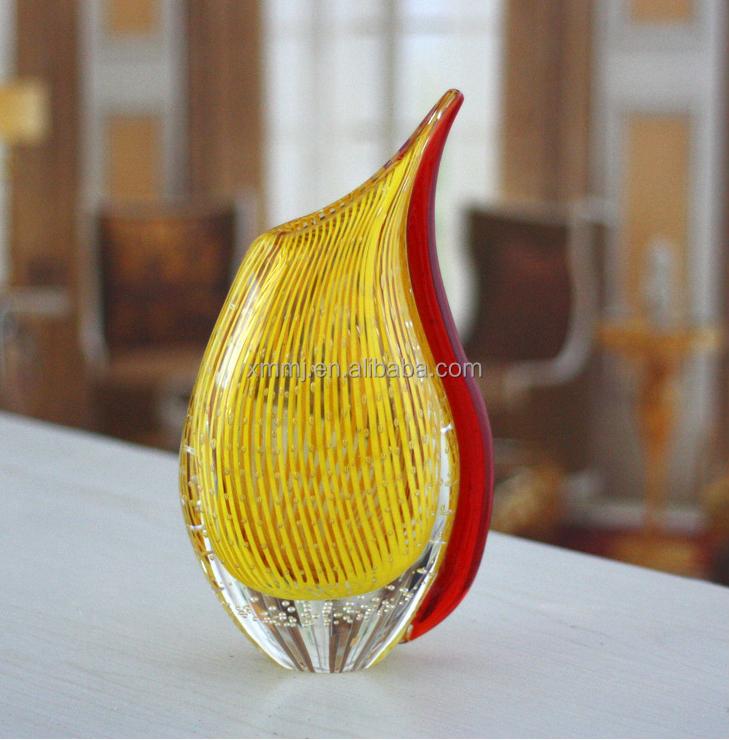moderna lmpara de mesa decoracin de gran tamao de color amarillo rojo claro florero