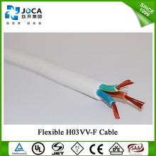 VDE/SAA/CCC/KTL Electric twin cores 2 cores H03VV-F Cable Housing Flexible PVC round cable wire 2*0.5mm2 2*0.75mm2