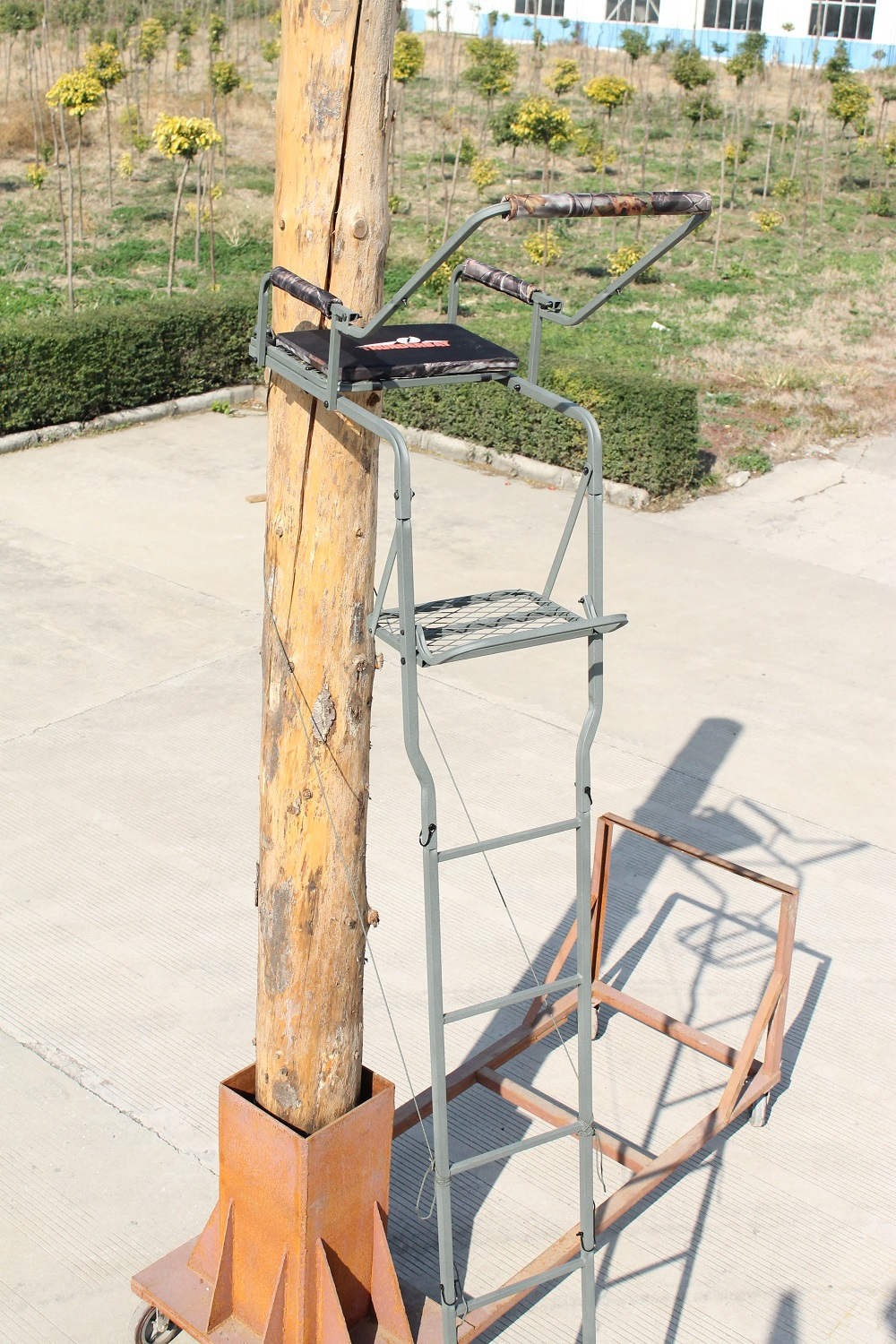 Ts006 16 5 39 one person ladder tree stands folding buy for One person tree stand