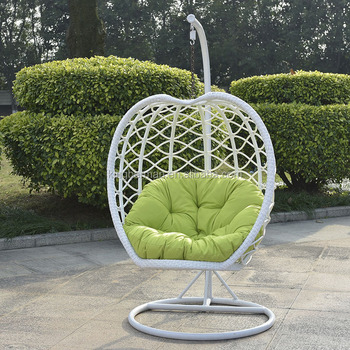Europe Standard Outdoor Rattan Swing Chair Garden Patio Hanging