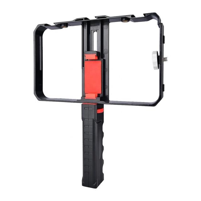 Video Camera Cage Stabilizer Film Handheld Filmmaking Videomaker Film-maker Videographer Cage Steady Handle Grip Rig For Mobile Smart Phones Rehomy Smartphone Video Rig