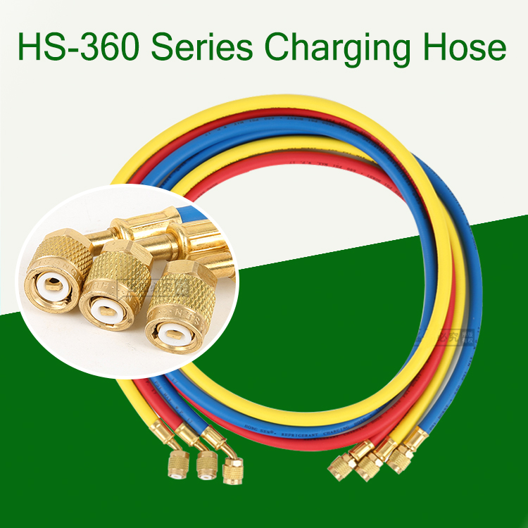 Hongsen Freon Charging Hose for Air Condition Equipment/Refrigerant R410 Charging Hose
