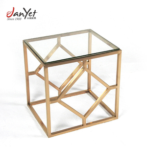New design styling style living room golden copper coffee table