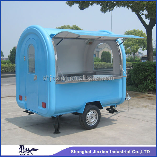 Mobile Fast Food Vending Machine JX-FR220B snack trailer/fast food carts selling food truck/portable ice cream cart