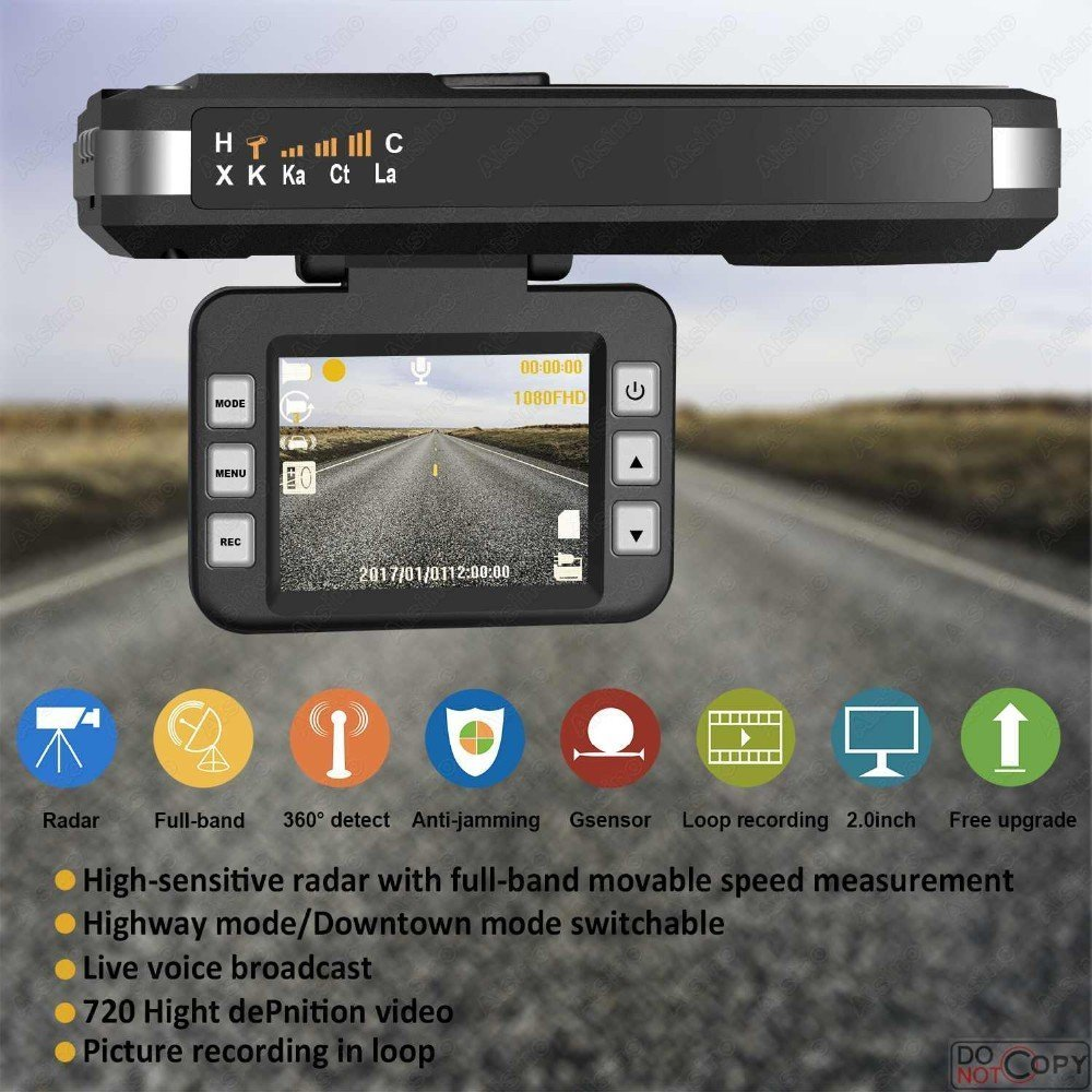 Smart Tech RADAR DETECTOR, 2018 NEW CAR SPEED TRAP DETECTOR, WITH HD DVR DASH CAM, 2 in 1 HD DASH CAM by