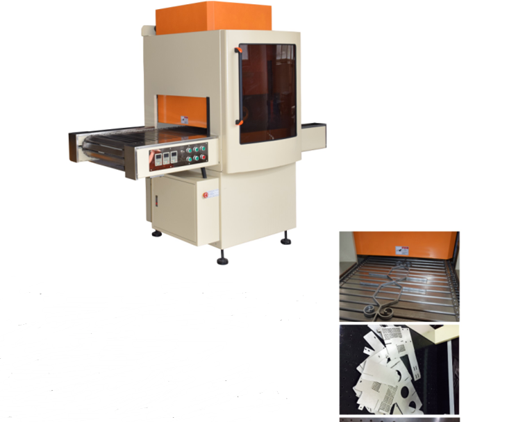 Fully automatic flat stainless steel abrasive belt wheel deburring machine