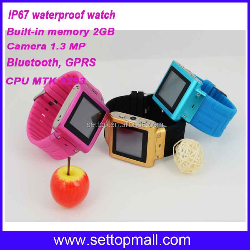 stainless watch mobile phone waterproof W838