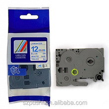 "1/2"" Blue on White Compatible TZ Tape TZ-233 label tape TZe-233 for P-touch Typewriter"