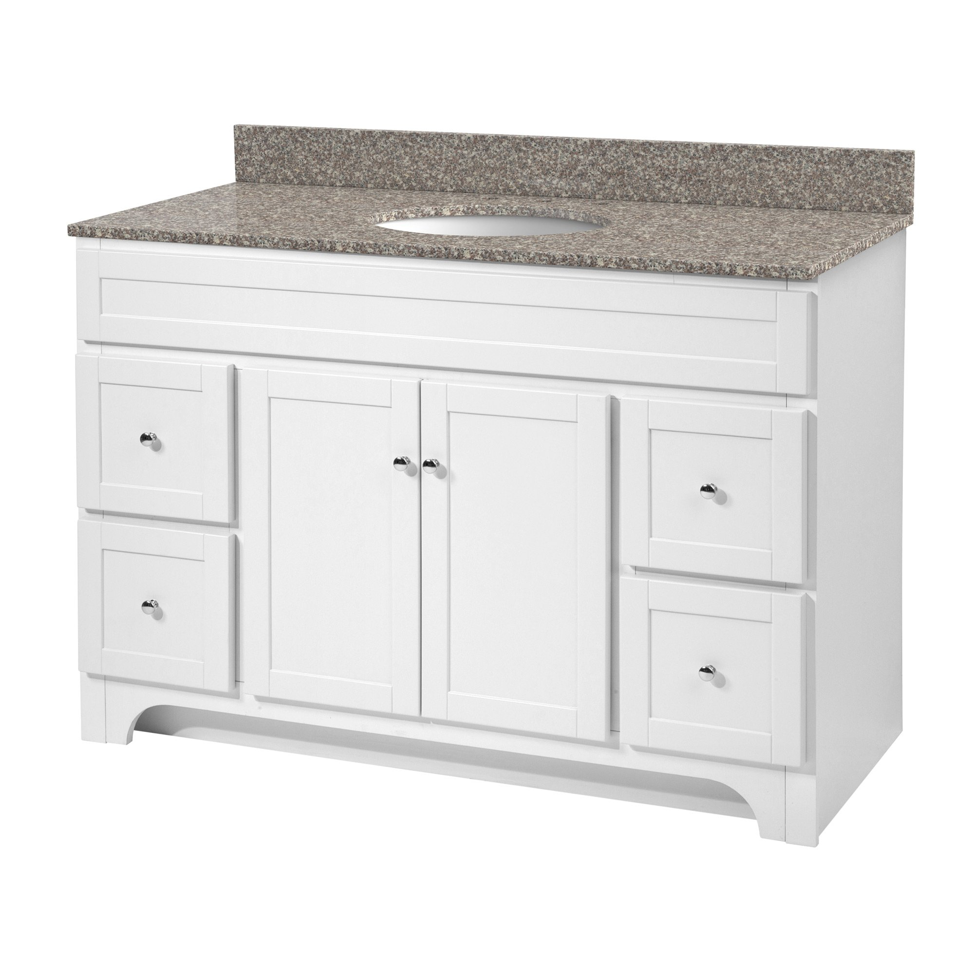 Foremost WRWA4821D Worthington 48 Inch White Bathroom Vanity