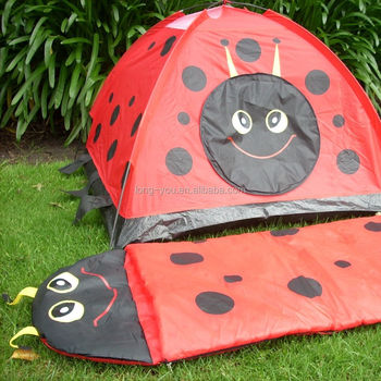 Lovely ladybird play tent with sleeping bag set kids sleeping tent & Lovely Ladybird Play Tent With Sleeping Bag Set Kids Sleeping Tent ...