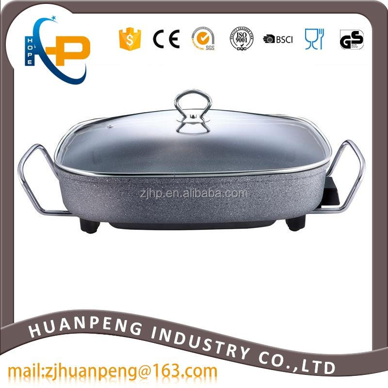 Four Layer Marble Stone Coating Stainless Steel Electric Frying Pan