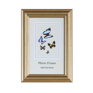 small heart-shaped gold picture frame with butterfly face paper 4x6 picture frame shapes