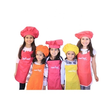 Custom Kids Disposable Children Chefs Hat And Apron Non Woven Kids