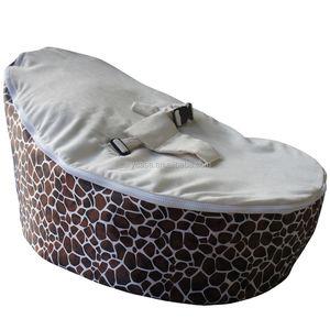 Fabulous Brown Giraffe Waterproof Base Baby Bean Bag Chair Nursey Pods Sleeping Chairs Dailytribune Chair Design For Home Dailytribuneorg