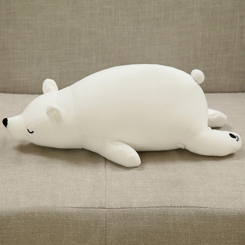 Cute Polar Bear Plush Toy Stuffed Animal White Foam Doll for Kids Toys