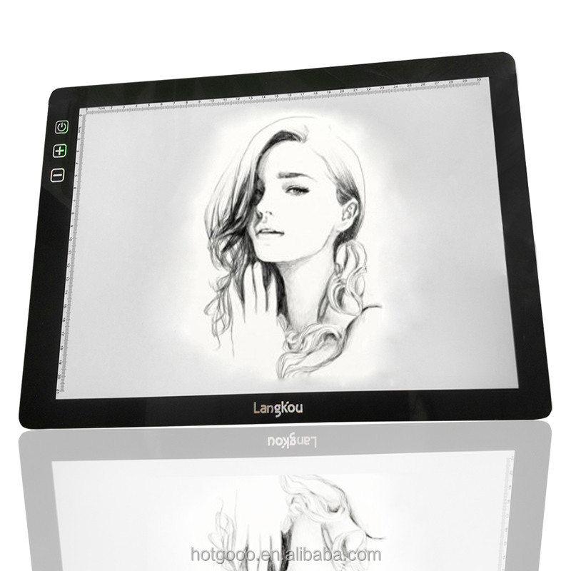 2017 High quality indoor and outdoor Slim LED Adjustable Tracing Drawing Board Light Box