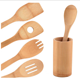 12 inches bamboo kitchen accessory cooking tools cooking spoon and spatulas 5 pieces