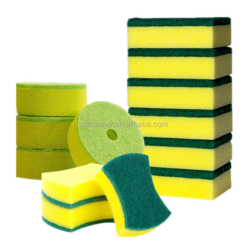 High quality square shape scouring pad/ dishes washing sponge scouring pad