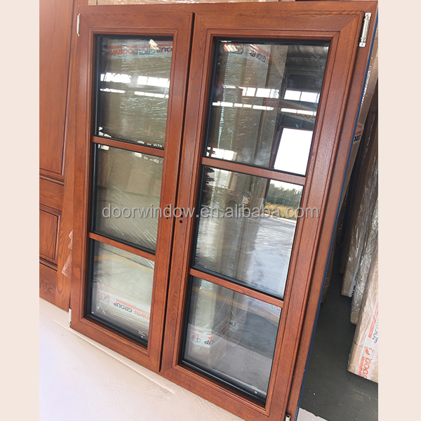 High end custom French open window with oak solid wood for presell