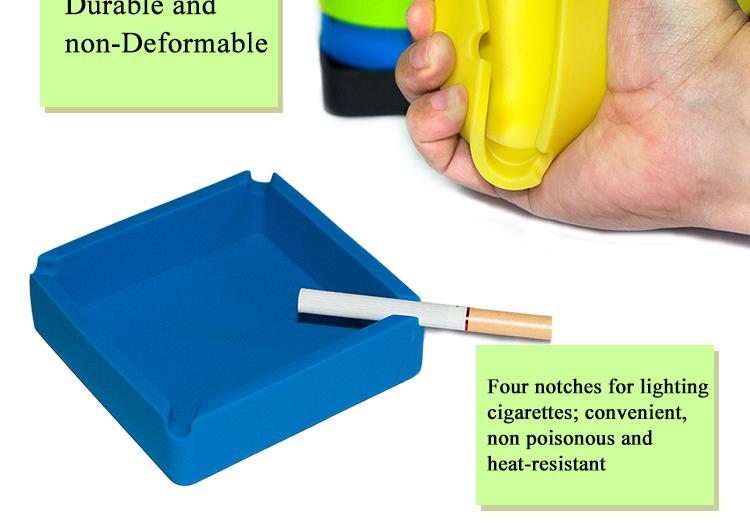 Cendrier en silicone avec logo personnalisé cendrier à cigares cohiba en plein air