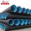 Factory Direct Sales 200mm-2000mm New Design Plastic Pipe HDPE Double-Wall Corrugated Pipe