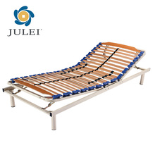 Tunggal Ukuran Manual Kayu Slatted Adjustable Bed Frame