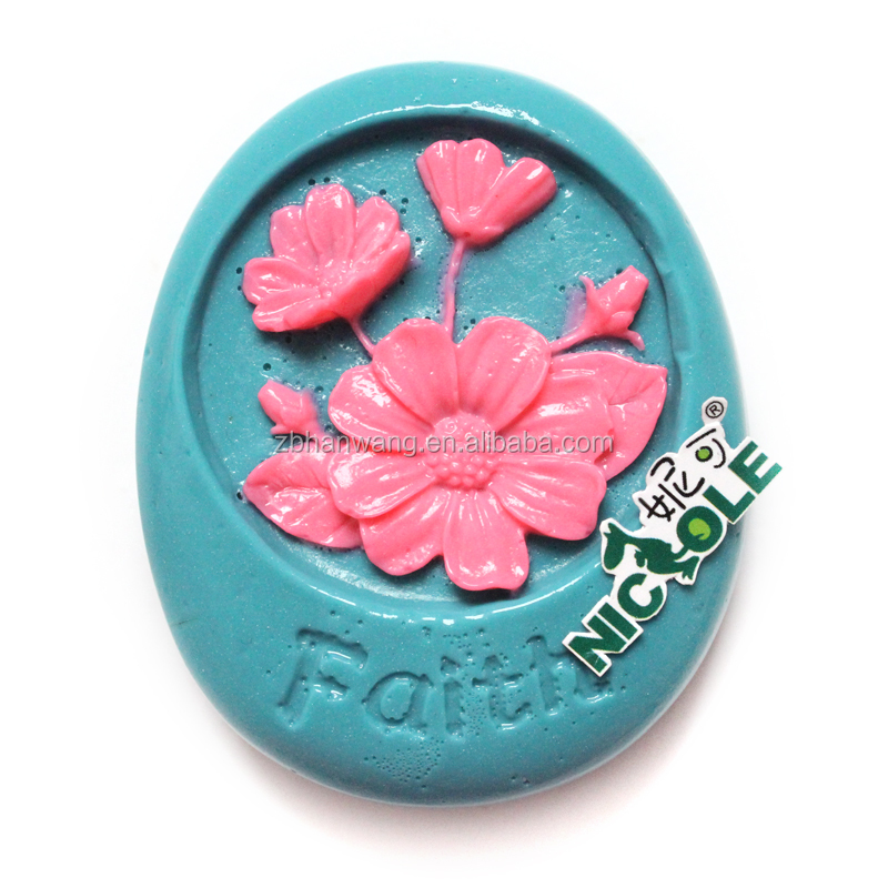 faith flower silicone soap molds