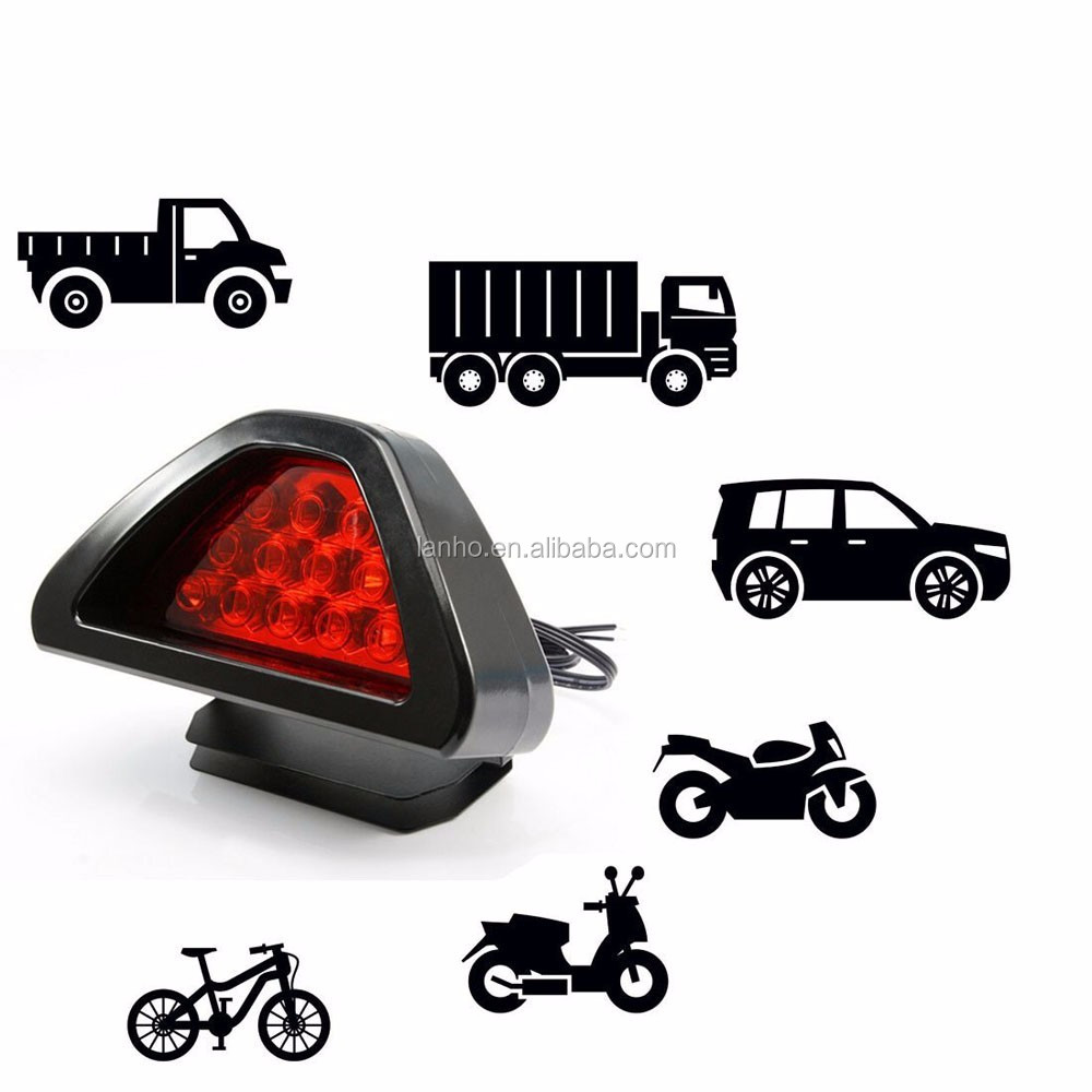 Universal Brake Lights F1 Style 12 LED Red Rear Tail Third Brake Stop Safety Lamp Light Car Car brake light LED