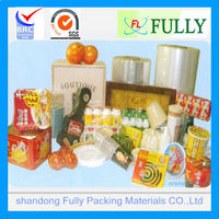 plastic films of polyolefin shrink film,polyolefin film, heat shrink film with BRC ISO certifications