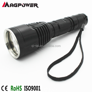 High quality military grade torch for night hunting torch light blue white red green led flashlight 4 colors