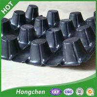 dimple drainage protection HDPE drain board for earthwork