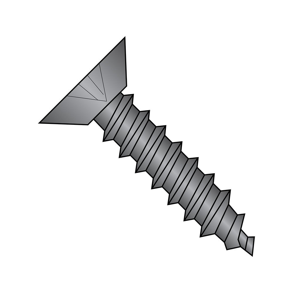 Undercut 82 degrees Flat Head Phillips Drive 5//8 Length Pack of 50 #10-12 Thread Size Type A Plain Finish 18-8 Stainless Steel Sheet Metal Screw