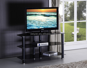 Modern Tempered Glass And Aluminum Tube Tv Stand Buy Tv Stand