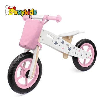 2019 Top sale girls pink wooden balance bikes for wholesale W16C194B