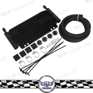 Universal auto parts plate and fin 10 row Aluminum Transmission Oil Cooler kit