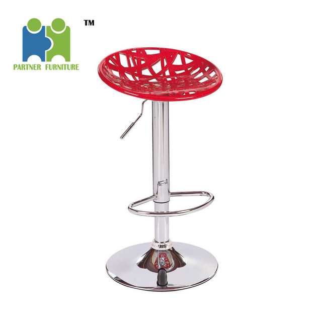 (XIAOMING) 385MM CHROMED BASE, 330 GAS LIFT. ABS NEW PLASTIC BAR CHAIR