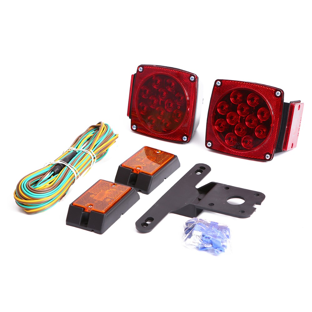 12v Submersible Boat Led Trailer Tail Light Kit Truck Waterproof Wiring The Includes