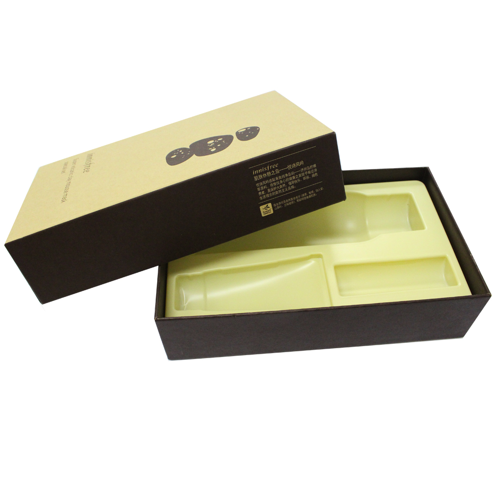 Custom low Cost paper cardboard blister inner tray gift box with lid