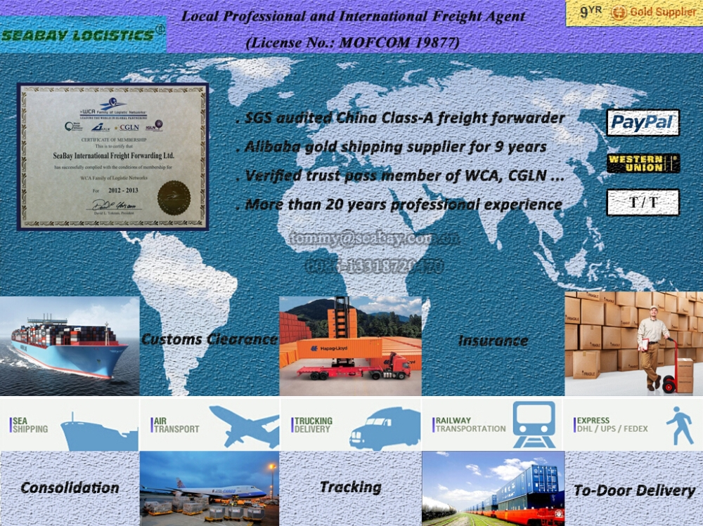Sea Freight Charges from China to UK/United Kingdom/Great Britain/England