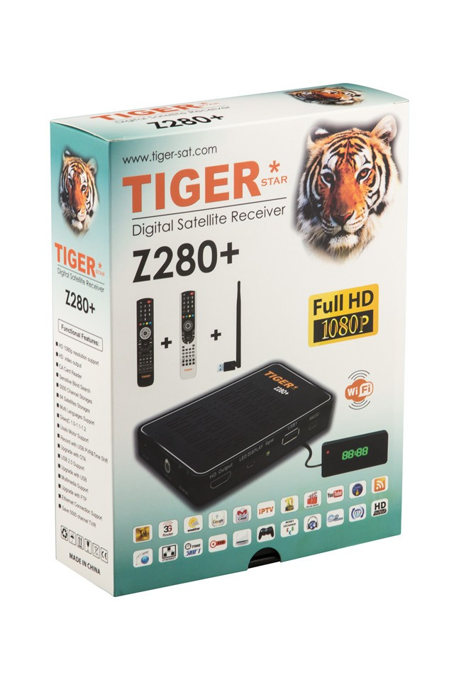 Tiger Stern Z280 + Set Top Box Free 3 Monate Iptv Free To Air