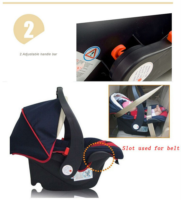 ECER44 04 Portable Infant Carrier Adjustable Baby Swivel Car Seat