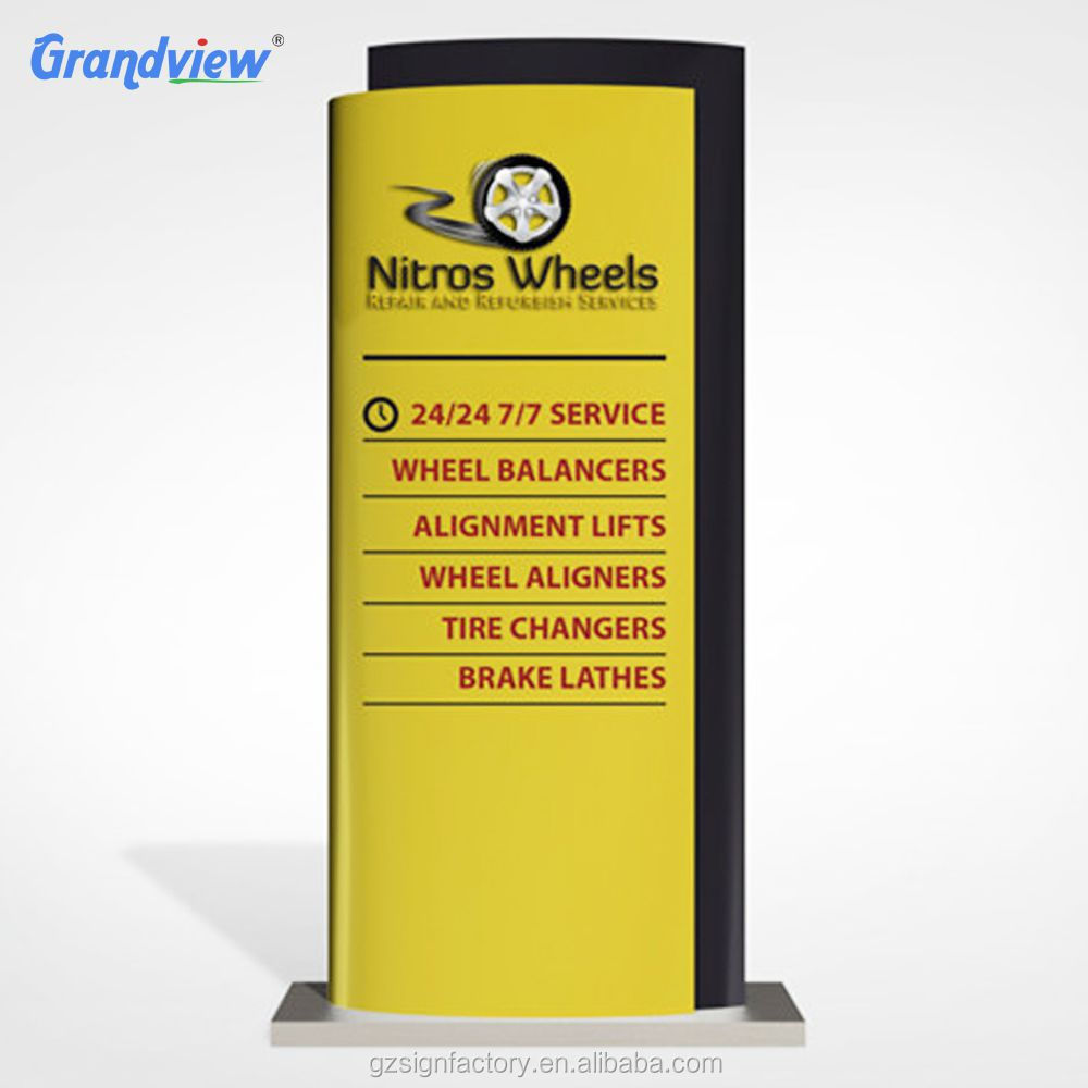 High Quality Outdoor Map Directional LED illuminated Parking Pylon Sign