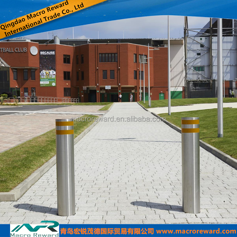 JIS SS 304 316 316L Stainless Steel Fixed Bollard for Pedestrian Use