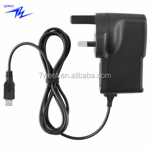 UK Travel Charger 3 Pin UK Mains Wall Charger With Micro USB Cable For Micro USB Devices