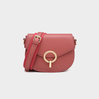Angedanlia summer new fashion korean version handbag leather retro round lock ladies bags single chain shoulder saddle bag