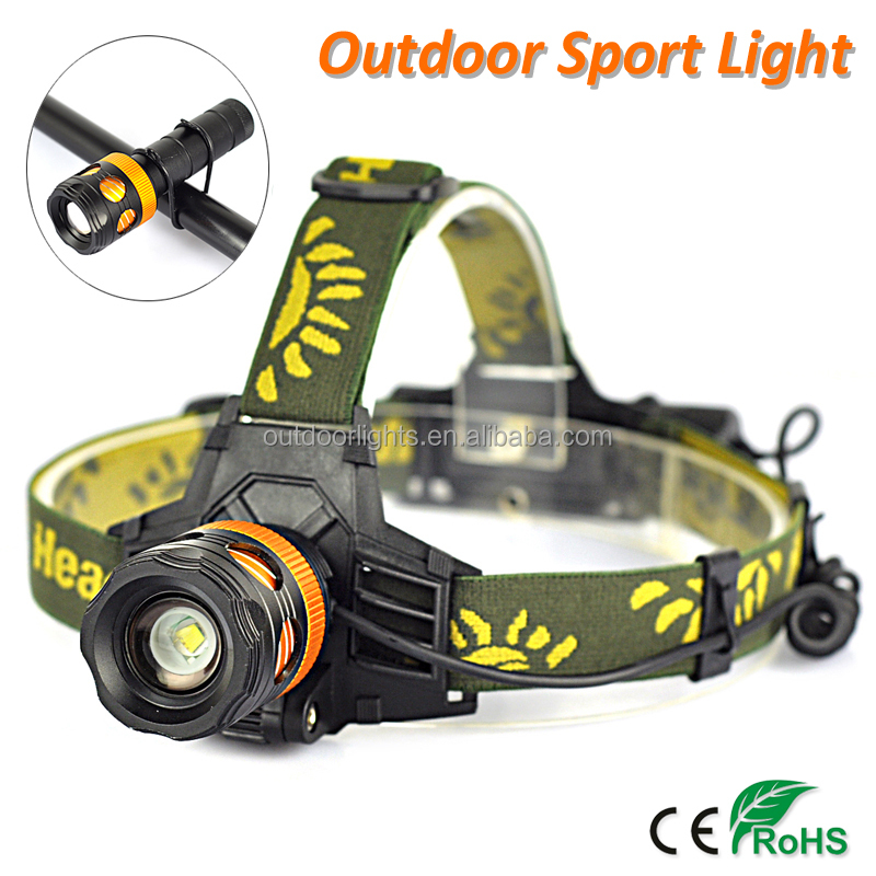 Multi-function LED Camping Headlamp Hunting Torch Light Bicycle Front Light