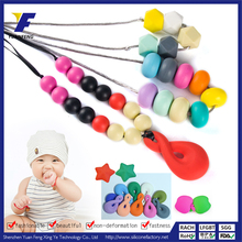 amber baby jewelry teething silicone necklace wholesale