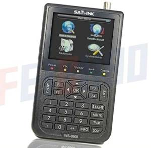 "JMT 1 Peice Satlink Ws-6908 3.5"" LCD Dvb-s FTA Handheld Digital Satellite Tv Signal Finder Meter USG Ws6908"