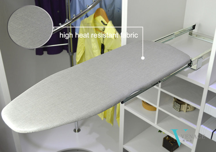how to make a wall mounted ironing board