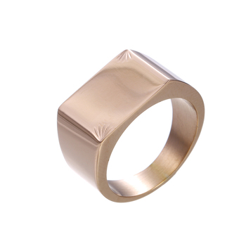 15108 Xuping fashion stainless steel jewelry rose gold plated ring for unisex